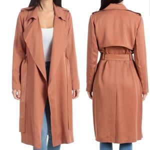 BADGLEY MISCHKA unlined trench coat medium NWT